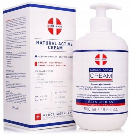 BETA-SKIN PROFESSIONAL NATURAL ACTIVE CREAM 500 ML BETA GLUCAN