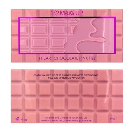 MAKEUP REVOLUTION I HEART CHOCOLATE PINK FIZZ PALETA